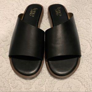 NEW Franco Sarto Studded Asymmetric Sandal Black